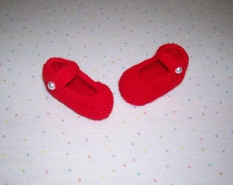 Booties  ~ Red Baby Booties  ~ Baby Girl Shoes ~ Baby shoes ~  Red Baby Shoes ~ Baby Girl Booties ~ Baby Clothing ~ Baby Socks
