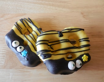 Bumble Bee Chocolate Dipped Pretzels Three Dozen