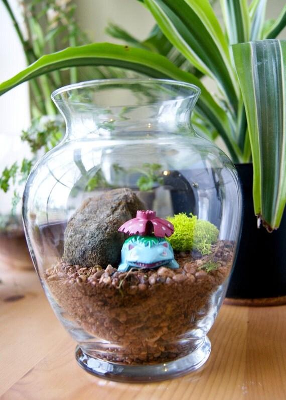 items similar to venusaur pokemon habitat terrarium