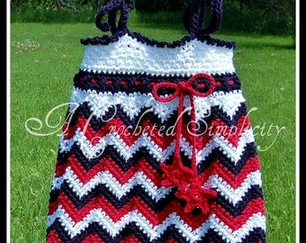"""Crochet Pattern: """"Chasing Chevrons"""" Tank Top / Tunic & Sundress, Permission to Sell Finished Items"""