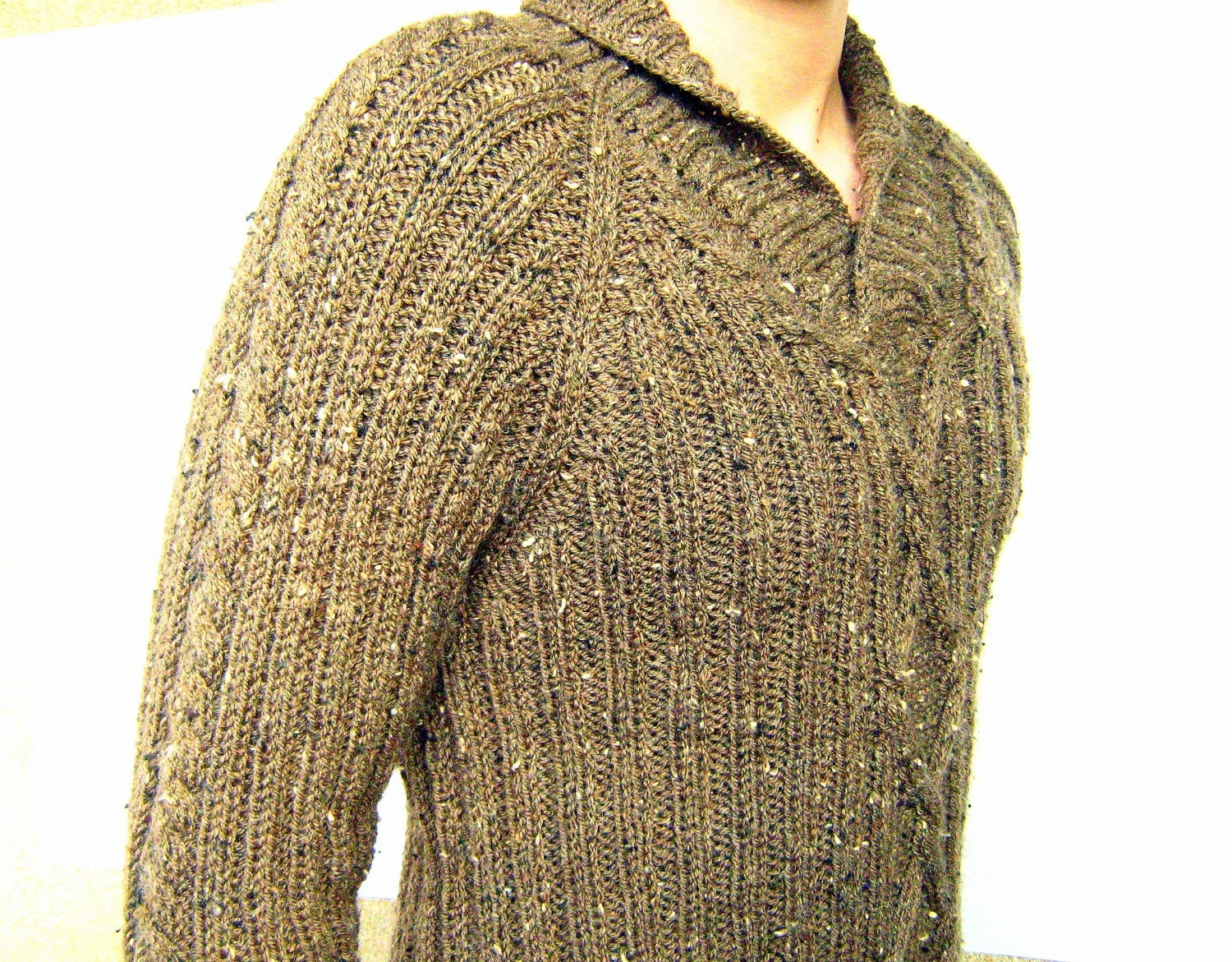 Men sweater Ready to ship clothing gift ribbed and cable