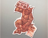 Boombox Werewolf Sticker