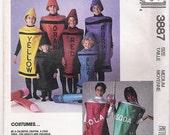 Crayon Costumes Soda Can Costumes Crayola Costumes Halloween Costume Patterns McCalls 3887 Adult Size Medium Craft Supplies VintageYacketUSA