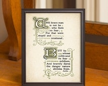 Thoughts of Baillie Concerning Courage 8x10 Print, No. 3, Inspirational Poem Art Prints