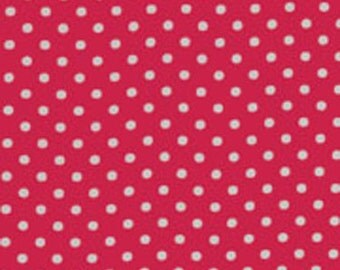 Fat Quarter Fuchsia/ White Dot from RJR Fabrics Crazy for Dots & Stripes