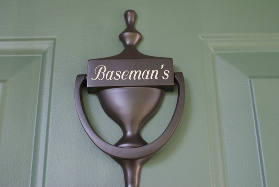 Personalized Engraved Door Knocker