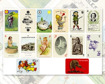 Playing Cards Fantasy Digital Collage Sheet for Scrapbooking Altered / CS28
