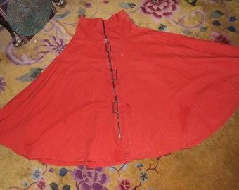 Vintage Orange Buckle Skirt Steampunk Mechanics Cosplay Western Endless Possibilities