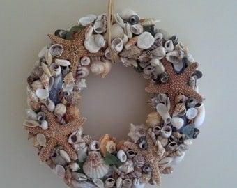Casco Bay Sea Shell Wreath