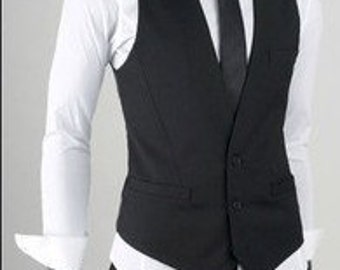 Fashion Classic Stylelish Contrast Men's Vest Custom made 0685
