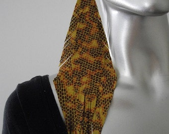 Tribal Leather Earrings Mustard Snake Triangle Fringe Earrings