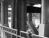 Blk and White Under the Bridge Songs of Selma Park Selma Alabama Photography  5 x 7 Print