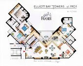 Frasier Crane's Apartment Floorplan from FRASIER
