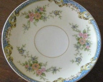 Noritake Casino China Saucer 5  and  1/2 inches