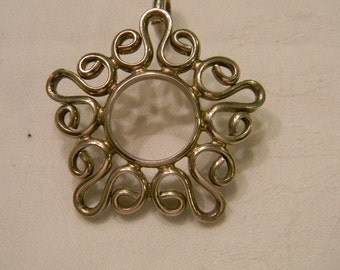 """Very Ornate Detailed Fahionable 925 Sterling Silver Large Artsy Pendant 2"""" Long And 1.75"""" Wide 17.6 g #1522"""
