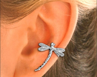 Dragonfly Ear Cuff in Sterling Silver or Gold Vermeil  - Single   #99-SM