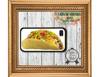 Taco iPhone Case, Food iPhone Case, Plastic iPhone Case, iPhone 4, iPhone 4s, iPhone 5, iPhone 5s, iPhone 5c, iPhone 6, 6s, 6 Plus