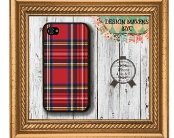 Red Tartan Plaid iPhone Case, Red Plaid iPhone Case, iPhone 8, 8 Plus, iPhone 7, 7 Plus, iPhone 6, 6s, 6 Plus, SE,  iPhone 5, 5s, 5c, 4, 4s