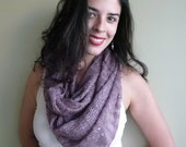 INFINITY SCARF with SEQUINS  , Fig Purple  / 736
