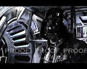 rare Darth Vader Star Wars Rare Art Print LE 50 12x18