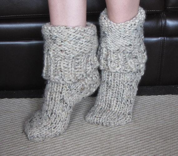 Chunky Wool Slipper Socks size medium US 7-8