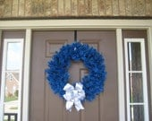 Diabetes Awareness Wreath - Solid Blue Basic