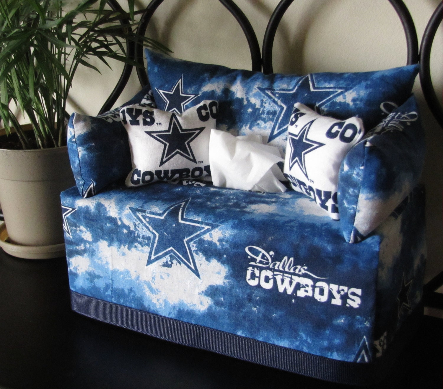 Dallas Cowboys Tissue Box Couch Cover