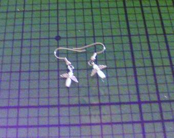 Pearl Angel Earings