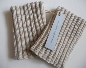 Boot cuffs, hand knit Boot cuffs