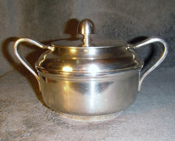 Reed And Barton Silver Soldered Sugar Bowl Usn 3610