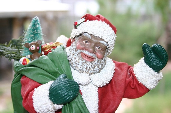 African american santa claus figurine