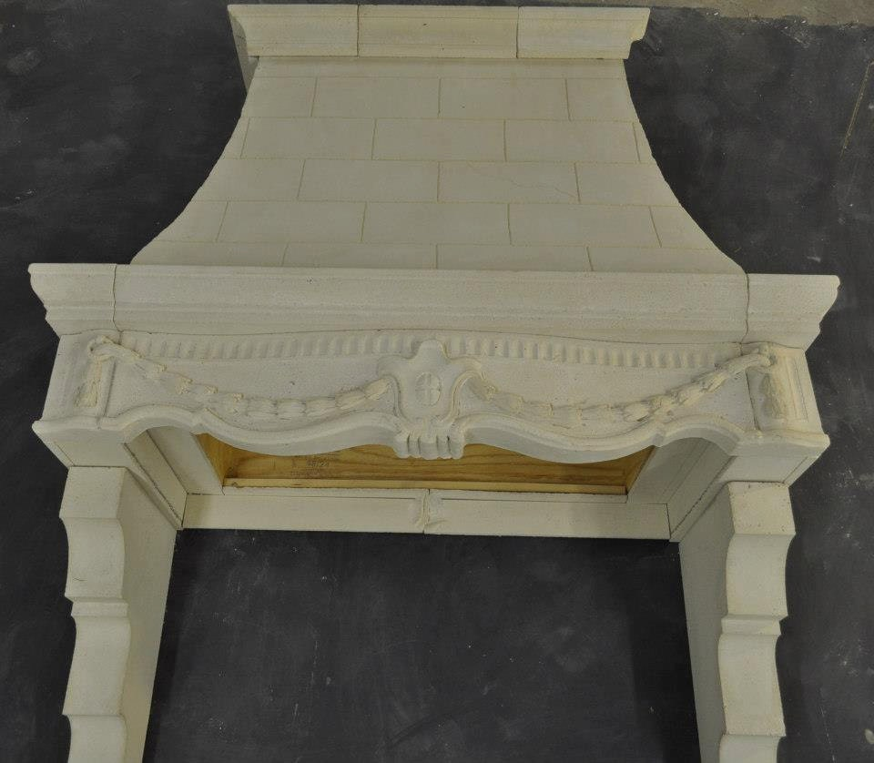 Kitchen Hood Styles: Cast Stone Kitchen Hood French Style Custom By