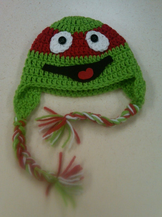 Crochet Pattern For A Turtle Hat : Items similar to Crochet Ninja Turtle Hat on Etsy