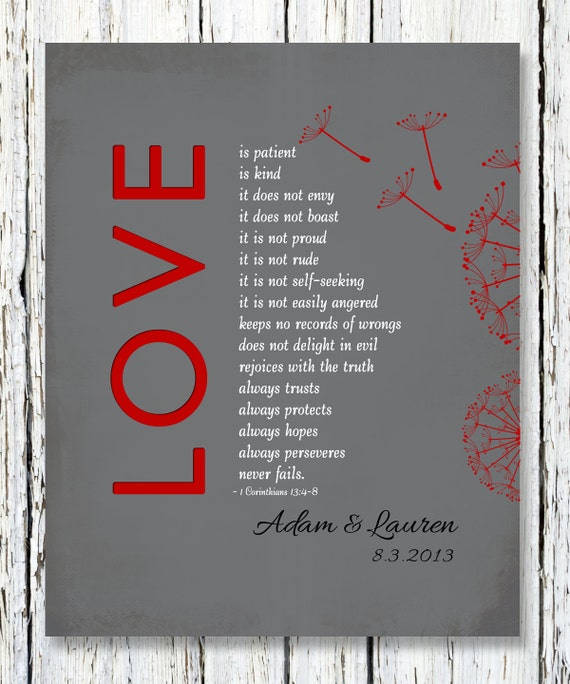 1 corinthians 13 love is patient customized by. Black Bedroom Furniture Sets. Home Design Ideas