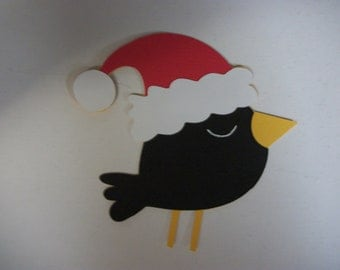 Cricut Christmas Santa Bird Winter Jolly Holidays Die Cut Scrapbooking