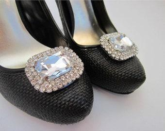 Diamond Shoe Clips, Rhinestone Shoe Clips, Bling Shoe Buttons, Dream Wedding Shoe Clips, Jewel Shoe Clips, Prom Queen Shoe Clips