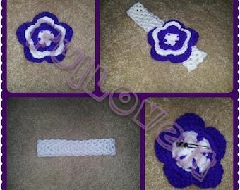 Crochet Headband/ Hair Flower