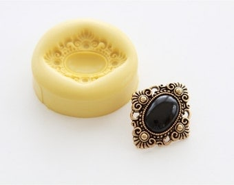 Vintage Button Silicone Mold