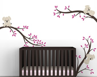 Kids Tree Wall Decals Baby Nursery Room Decor Tree Wall Decal - Koala Tree Branches by LittleLion Studio