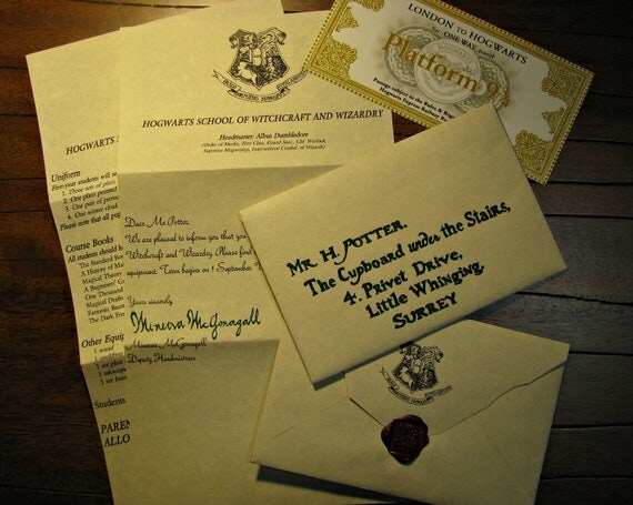 Custom Harry Potter Handwritten Hogwarts Acceptance Letter and – Hogwarts Acceptance Letter