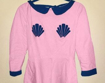 primrose pink mermaid dress MADE TO ORDER