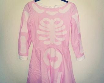 primrose pink skeleton dress MADE TO ORDER
