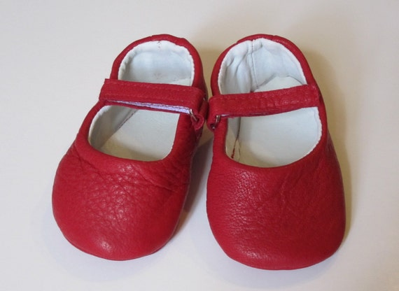 Items Similar Red Mary Jane Soft Leather Baby Toddler