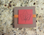 Fall  sticky note pad - Fall leaves - memo notes