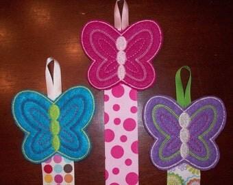 Kids Hair Clip Holder - Butterflies