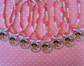 Dora Party Favor Stretch Necklaces Set of 8