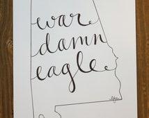 Alabama: War Eagle Print