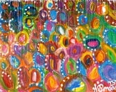 Abstract colourful circle pattern painting....