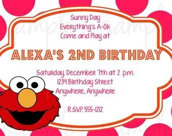 Elmo Girl Birthday Invitation