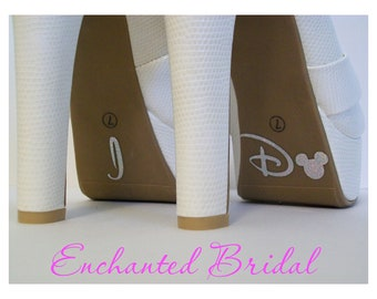 Disney Inspired I Do Shoe Stickers You Pick Color Sparkly Vinyl Wedding Shoe Decals